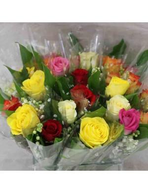 Bouquet de Muguet et fleurs tons multicolores