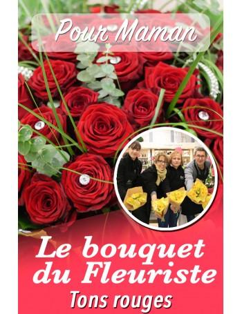 Le bouquet du fleuriste ton rouge