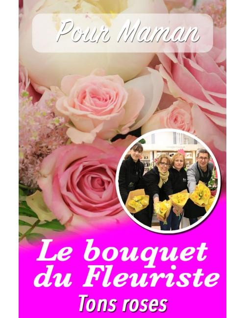 Le bouquet du fleuriste ton rose