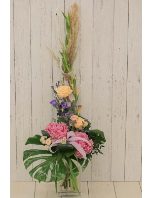 Grand bouquet en hauteur 'Maman calin'