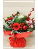 Bouquet rond bulle d'eau Noël Magique