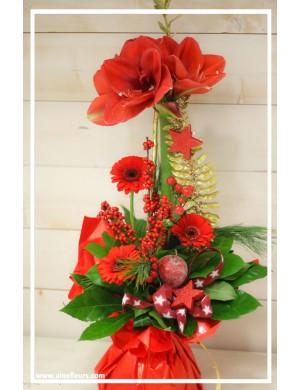 Bouquet haut bulle d'eau Noël Magique