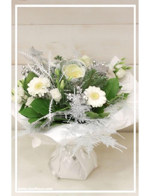 Bouquet rond bulle d'eau Merveille d'hiver