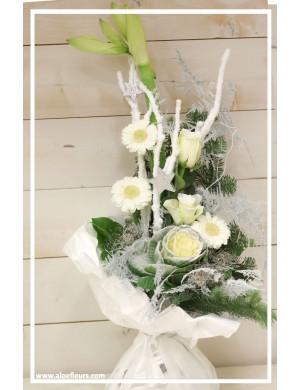 Bouquet haut bulle d'eau Merveille d'hiver